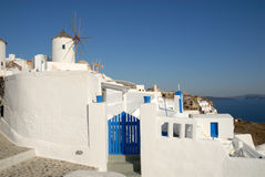 Town Oia in Greece Stock Photos