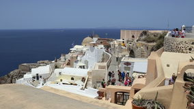 Town of Oia on Island of Santorini, Greece stock video footage