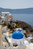 Town Oia, Santorini Greece Royalty Free Stock Photos