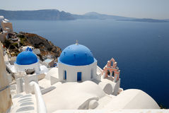 Town Oia, Santorini Greece Royalty Free Stock Images
