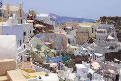 Town of Oia, Santorini, Greece Royalty Free Stock Images