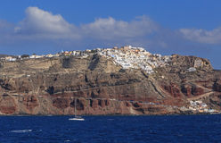Town Oia on Santorini island Stock Photos