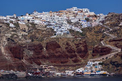 Town of Oia, Santorini, Tira Island, Cyclades Stock Photo