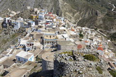 The town of Olympos on Karpathos, Greece. The town of Olympos on Karpathos island, Greece Royalty Free Stock Photography