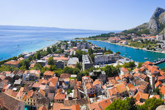Town Omis in Croatia Stock Photography