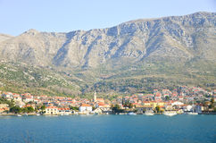Town Omis in Croatia Royalty Free Stock Images