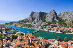 Town Omis in Croatia Royalty Free Stock Photography