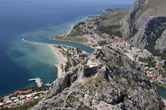 Town Omis, Croatia stock images
