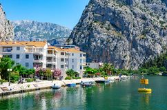 Town Omis in Croatia. royalty free stock image