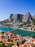 Town Omis in Croatia. Travel background stock photography