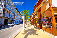 Town of Opatija street view Royalty Free Stock Images