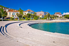 Town of Opatija waterfront view Stock Images