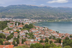Town of Orid at lake Ohrid Royalty Free Stock Photos