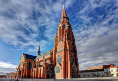 Town Osijek. The Church of St Peter and St Paul, the co-cathedral of the Roman Catholic Archdiocese of �akovo-Osijek Stock Photography