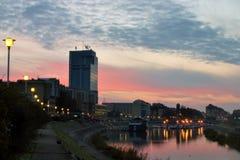 Town Osijek at sunset Royalty Free Stock Photo