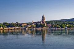 Town of Osor,bridge connecting islands Cres and Lo Royalty Free Stock Image
