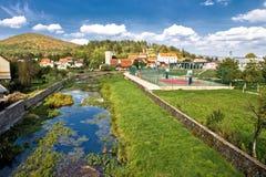 Town of Otocac - Gacka river. Lika, Dalmatia Stock Photography