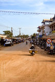 Town on the outskirts of Siem Reap city. Heading towards Phnom Penh Royalty Free Stock Images