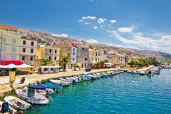 Town of Pag colorful waterfront Royalty Free Stock Photos