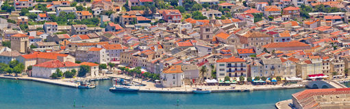 Town of Pag panoramic view Royalty Free Stock Images