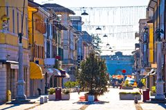Town of Palmanova colorful street view Stock Photography