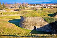 Town of Palmanova defense walls and trenches. UNESCO world heritage site in Friuli Venezia Giulia region of Italy Royalty Free Stock Photography
