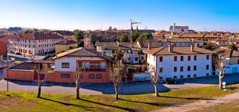 Town of Palmanova skyline panoramic view from city defense walls Stock Photos