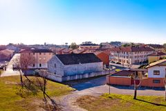 Town of Palmanova skyline panoramic view from city defense walls Royalty Free Stock Photos