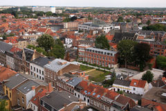 Town panorama. Panorama over the town (city of Louvain, Belgium Royalty Free Stock Image