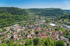 Town panorama on bath Liebenzell Royalty Free Stock Photos