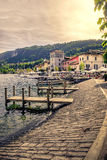 Town of Pella - Lake Orta - Italy Royalty Free Stock Images