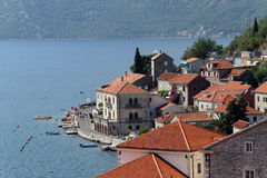 Town Perast Stock Images