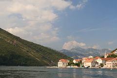Town of Perast in Montenegro of the bay of Kotor Royalty Free Stock Photos