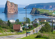 Town of Percé Quebec,Canada Stock Image