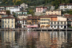 Town of Peschiera, Iseo lake, Italy Royalty Free Stock Photos