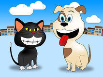 Town Pets Shows Domestic Animals And Canines Stock Image