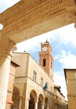 Town of Pienza Stock Images