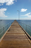 Town pier. Timber town pier at South Australia Stock Photo