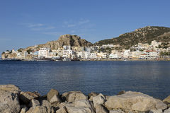 The town of Pigadia on Karpathos, Greece Stock Image