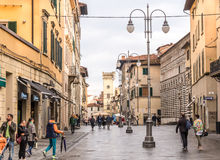 Town of Pistoia Italy. Pistoia, Italy - Oct 8, 2016. Town center of Pistoia, Italy royalty free stock photos
