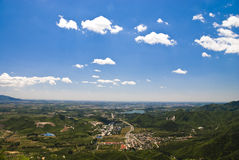 Town in plain. Beijing, China Royalty Free Stock Image