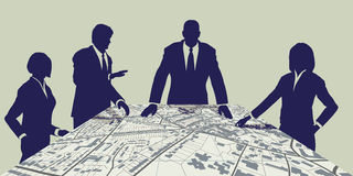 Town planners Royalty Free Stock Image