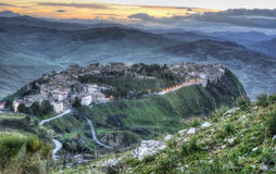 Town of Polizzi Generosa. In the province of palermo. sicily Royalty Free Stock Image