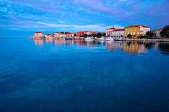 Town of Porec morning sunrise view. Istria region of Croatia Stock Photography