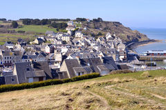 Town of Port-en-Bessin in France Stock Photography
