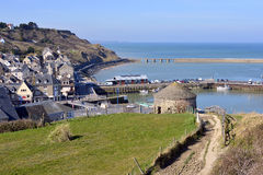Town of Port-en-Bessin in France Stock Photo