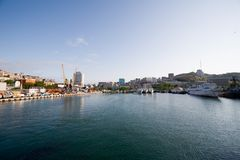 Town-port Vladivostok.Russia Royalty Free Stock Photo