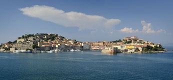 Town of Portoferraio in Italy Stock Image