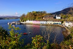 Town of Portree, Isle of Skye, Scotland Royalty Free Stock Image
