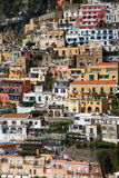 Town of Positano,Amalfi. Famous sight seeing destination near from Naples Italy Royalty Free Stock Photography